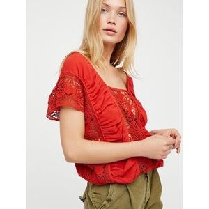 Free People | Red Little Secret Top